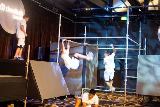 Specialised Scaffolding Hire - Jump Squad Parkour Exhibition