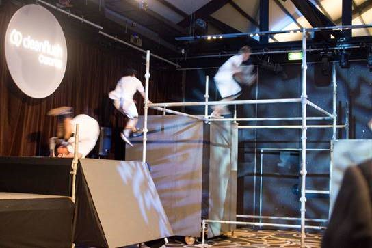 Specialised Scaffolding Hire Sydney - Jump Squad Parkour Exhibition