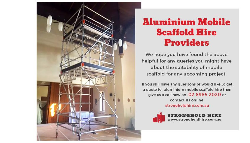 Aluminium Mobile Scaffold Hire Providers - Stronghold Hire