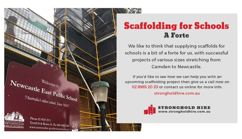 Scaffolding for Schools Specialists - Stronghold Hire Sydney